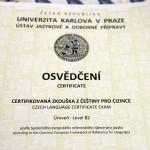 Лучшие студенты UJOP сдавали в Праге экзамен на уровень B2