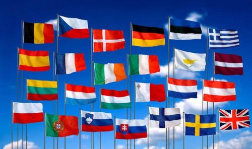 Флаги стран ЕС. Источник фотографии - our-daily.com