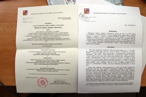 Апелляция о нострификации в Чехии