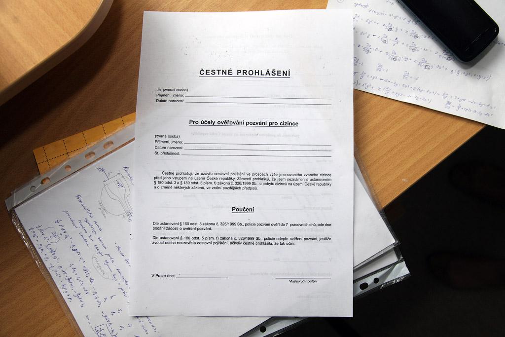 гарантийное письмо (чеш.