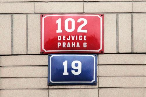 Номер дома в Праге