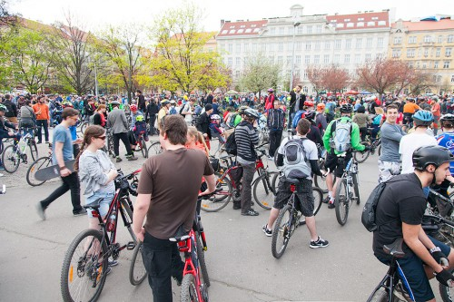 Большой весенний велопробег в Праге 2015 / Velká jarní cyklojízda 2015