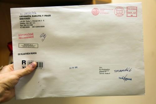 Письмо из Карлова университета