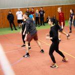 Волейбольный матч студентов UJOP Подебрады